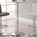 Clear Metal Bar Table