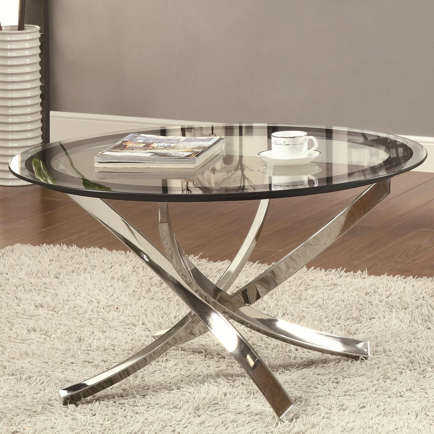 Superbe Silver Metal Coffee Table