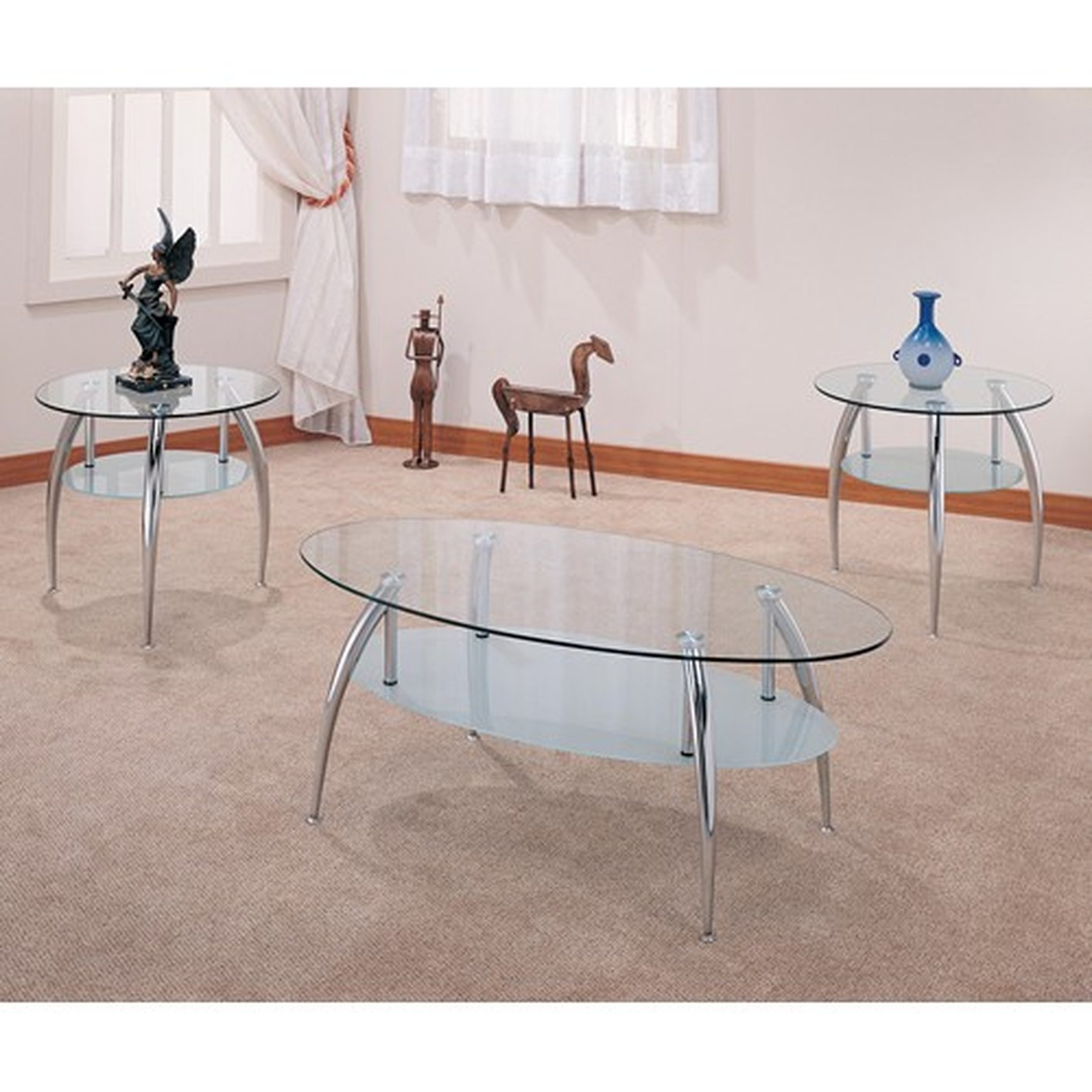 ... Silver Glass Coffee Table Set Steal A Sofa Furniture Outlet Los