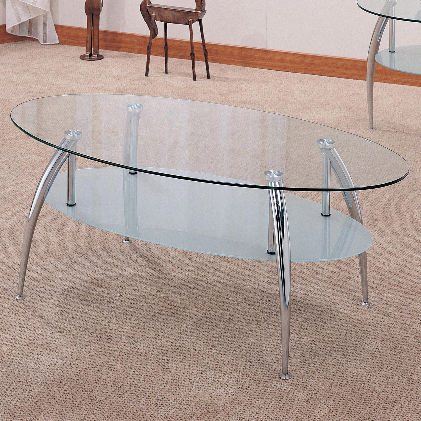 Silver Glass Coffee Table Set Steal A Sofa Furniture Outlet Los