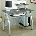 Silver Glass Computer Desk
