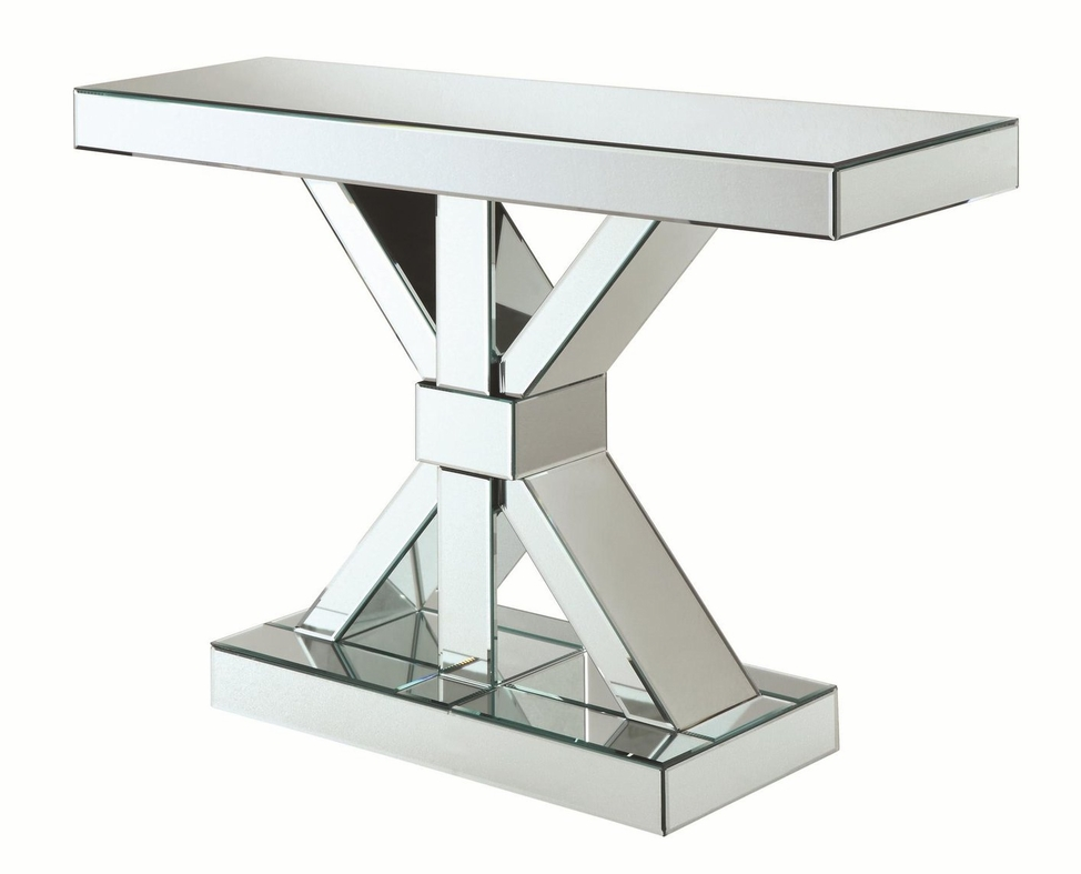 narrow glass console table uk with shelf silver clear