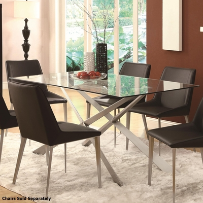 Silver Glass Dining Table