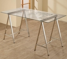 Silver Metal Office Desk