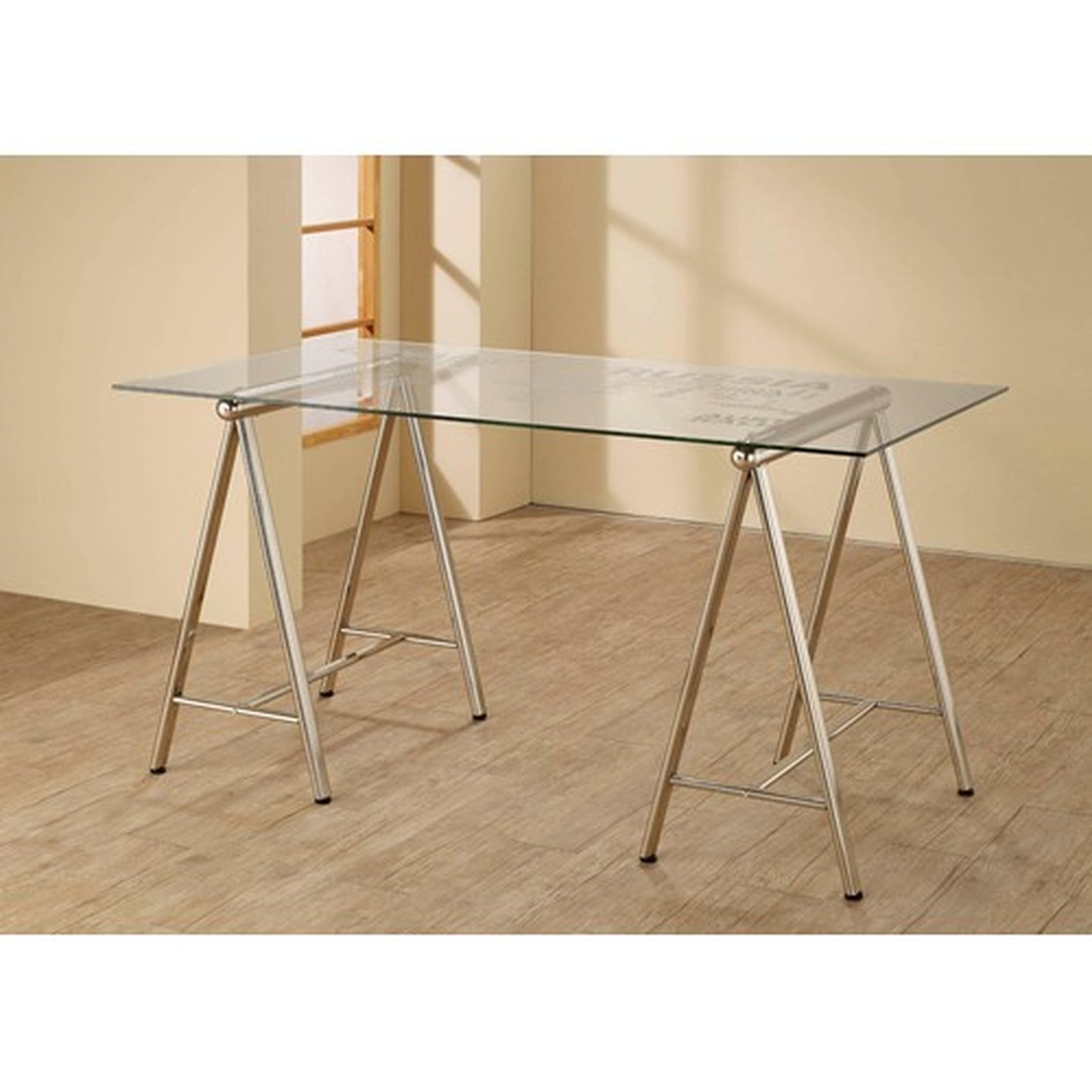 Silver Glass Office Desk