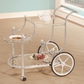 Clear Metal Serving Cart