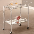 Clear Marble Serving Cart