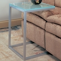 Silver Glass Snack Table