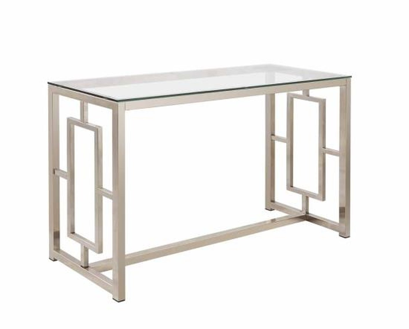Glass Sofa Table silver glass sofa table - steal-a-sofa furniture outlet los angeles ca