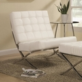 White Metal Accent Chair