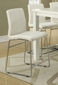 Silver Leather Dining Chair