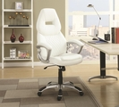 Silver Leather Office Chair