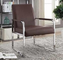 Silver Metal Accent Chair