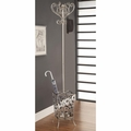 Silver Metal Coat Rack