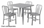 Silver Metal Dining Table