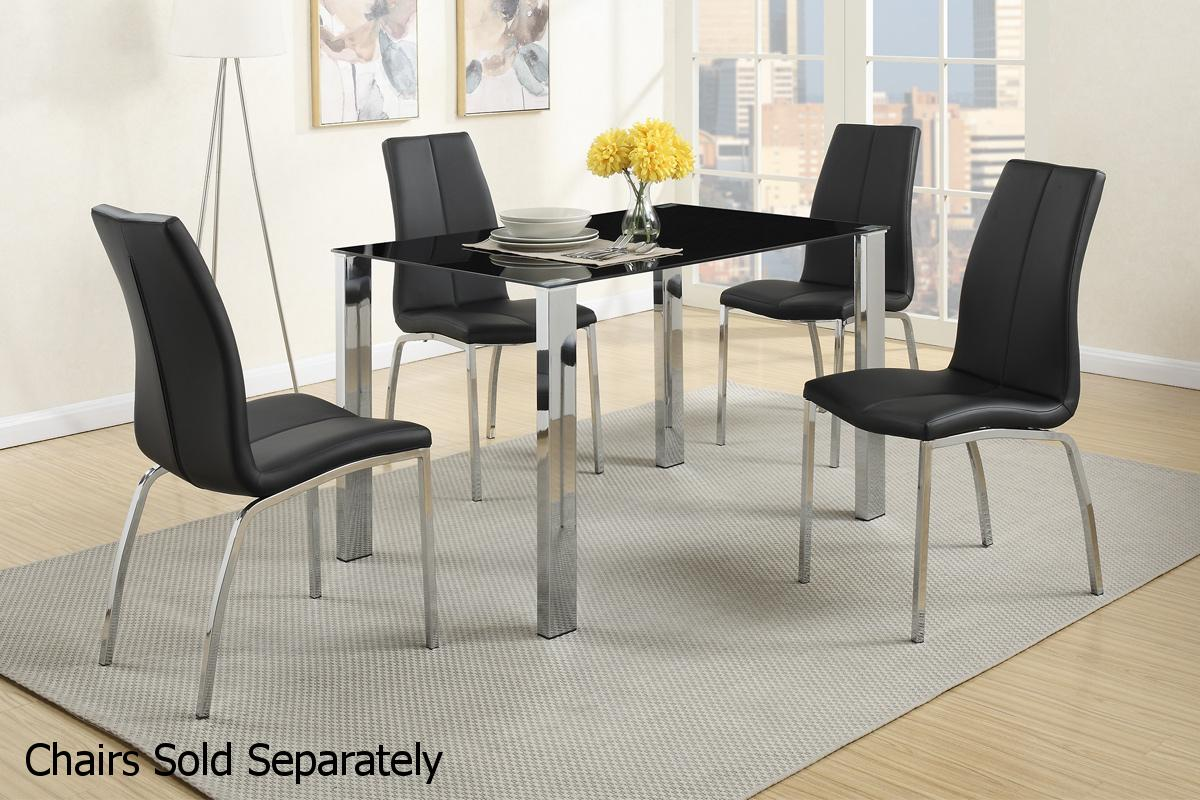 Silver Metal Dining Table - Steal-A-Sofa Furniture Outlet Los ...