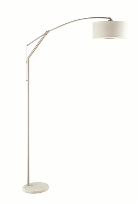 Silver Metal Floor Lamp
