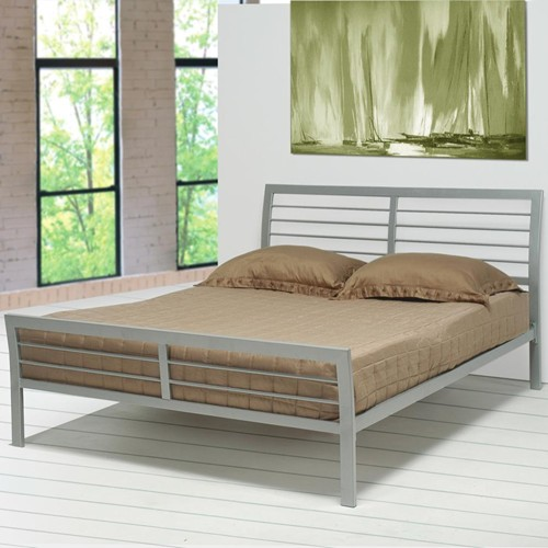 coaster 300201q silver metal queen size bed steal a sofa furniture outlet los angeles ca - Silver Metal Bed Frame