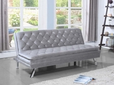 Silver Metal Sofa Bed
