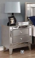 Silver Plastic Nightstand