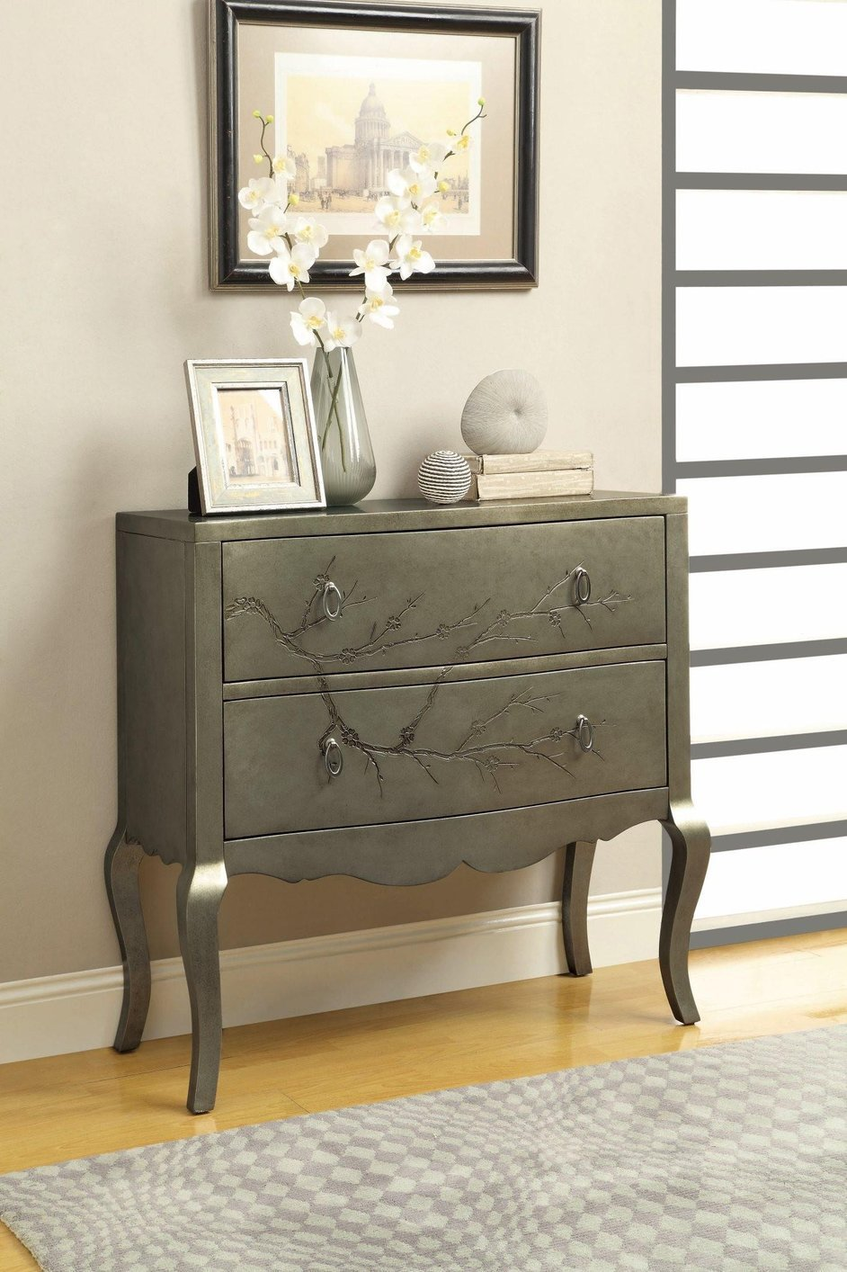 Silver Wood Accent Cabinet Silver Wood Accent Cabinet ...