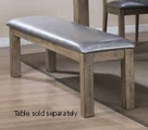 Silver Wood Bench