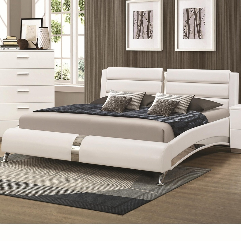 Coaster 300345kw silver california king size wood bed for California king mattress size
