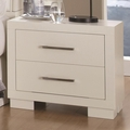 Silver Wood Nightstand