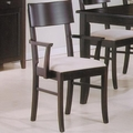 Springs Cappuccino Arm Chairs (Min Qty 2)