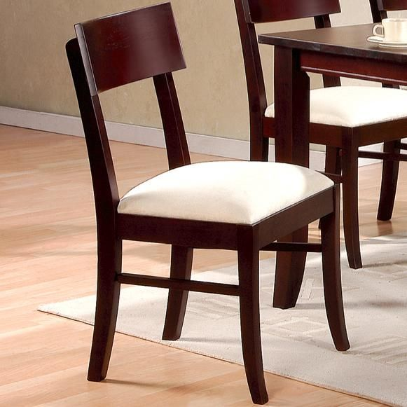 Coaster springs brown wood dining chair in los