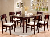 Springs Cappuccino Wood Dining Table
