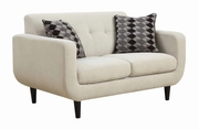 Stansall Beige Fabric Loveseat