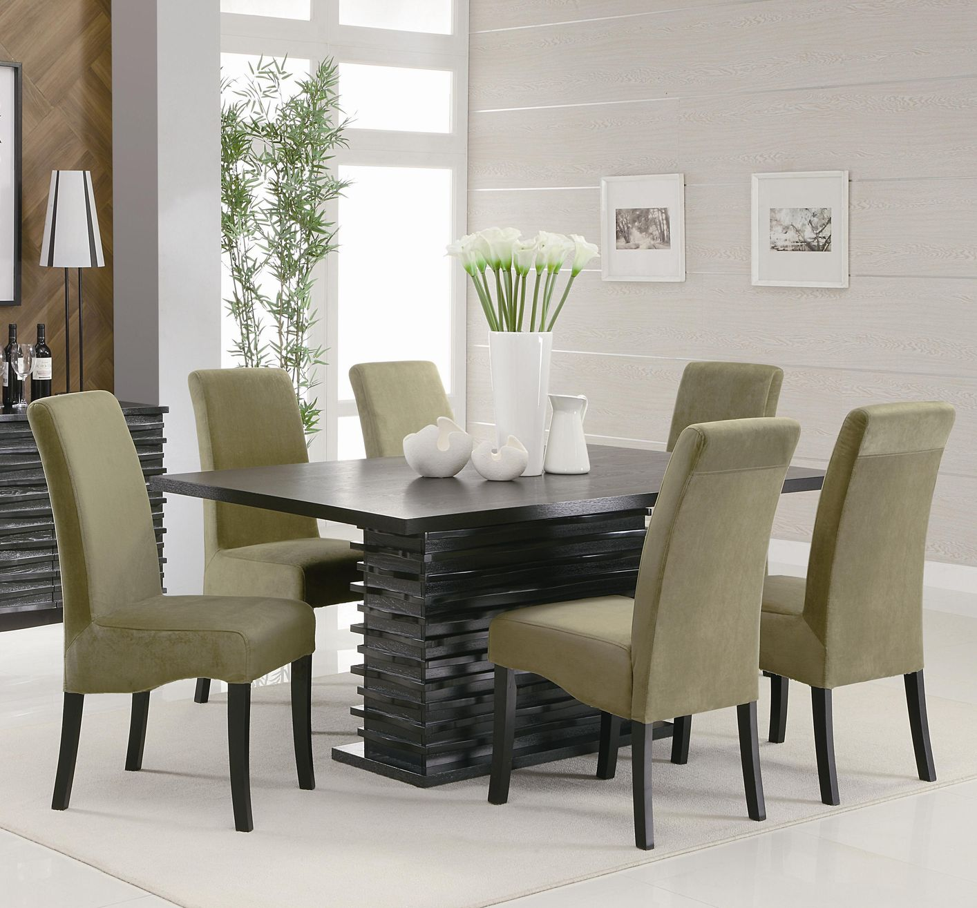 Stanton Black And Gray Wood Dining Table Set