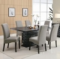 Stanton Black And Green Wood Dining Table Set