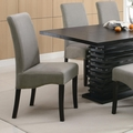 Black Fabric Dining Table