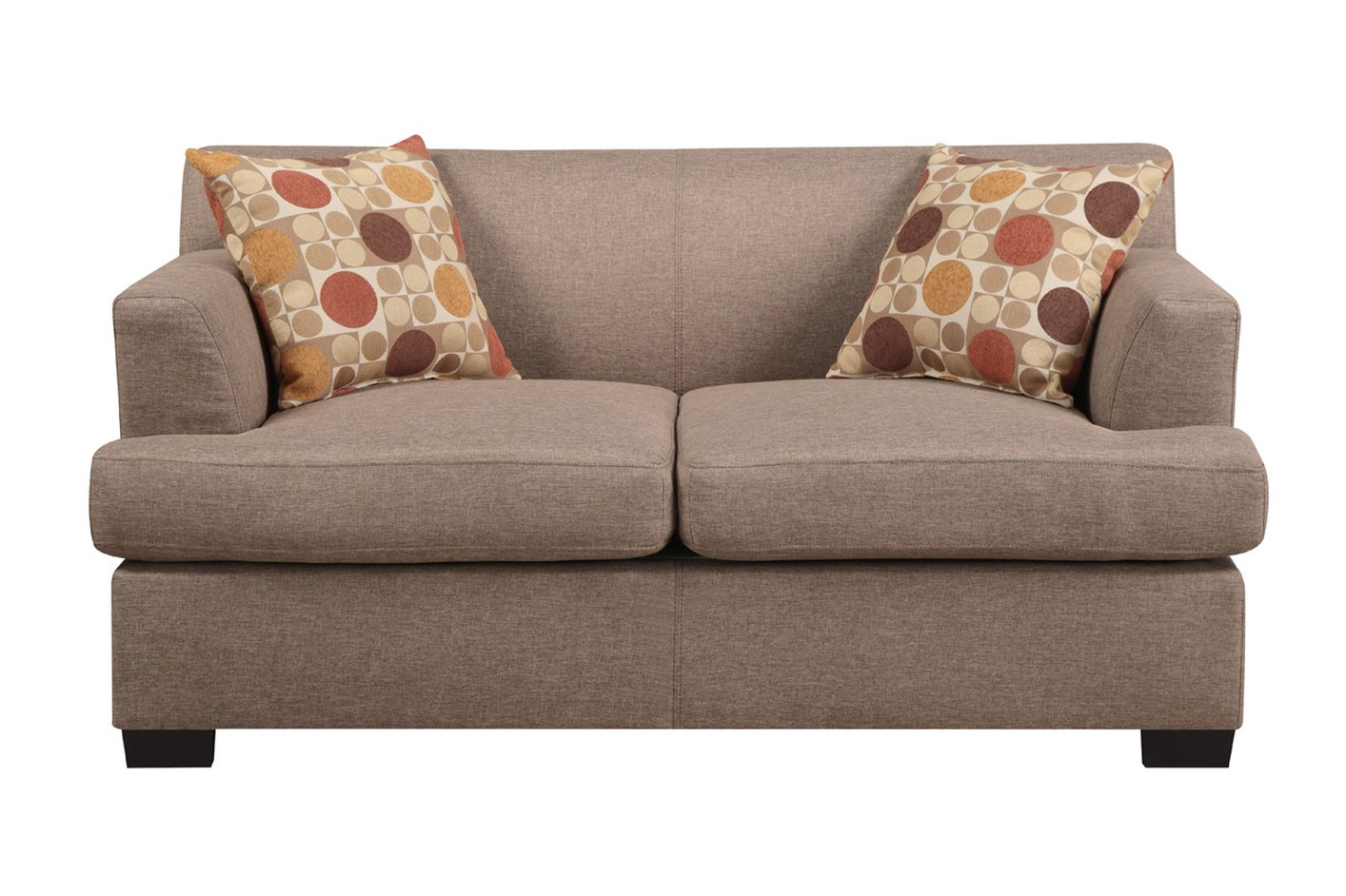 Poundex montreal v f7967 beige fabric loveseat steal a sofa furniture outlet los angeles ca Couches and loveseats