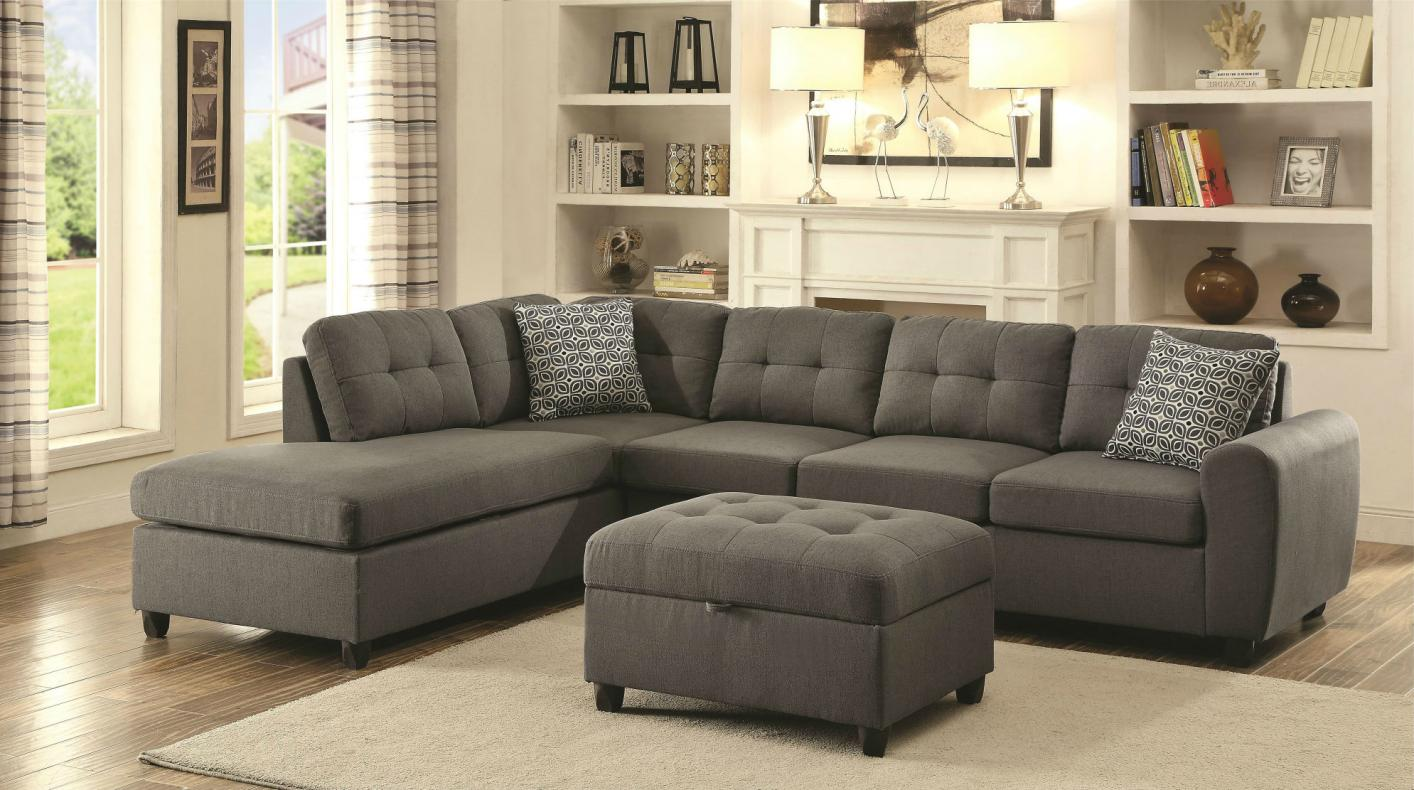 Superieur Stonenesse Grey Fabric Sectional Sofa Stonenesse Grey Fabric Sectional Sofa  ...