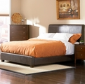 Brown Leather Bed