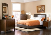 Tamara Walnut Wood Queen Bed Set
