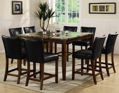 Telegraph Cherry Wood And Marble Pub Table Set