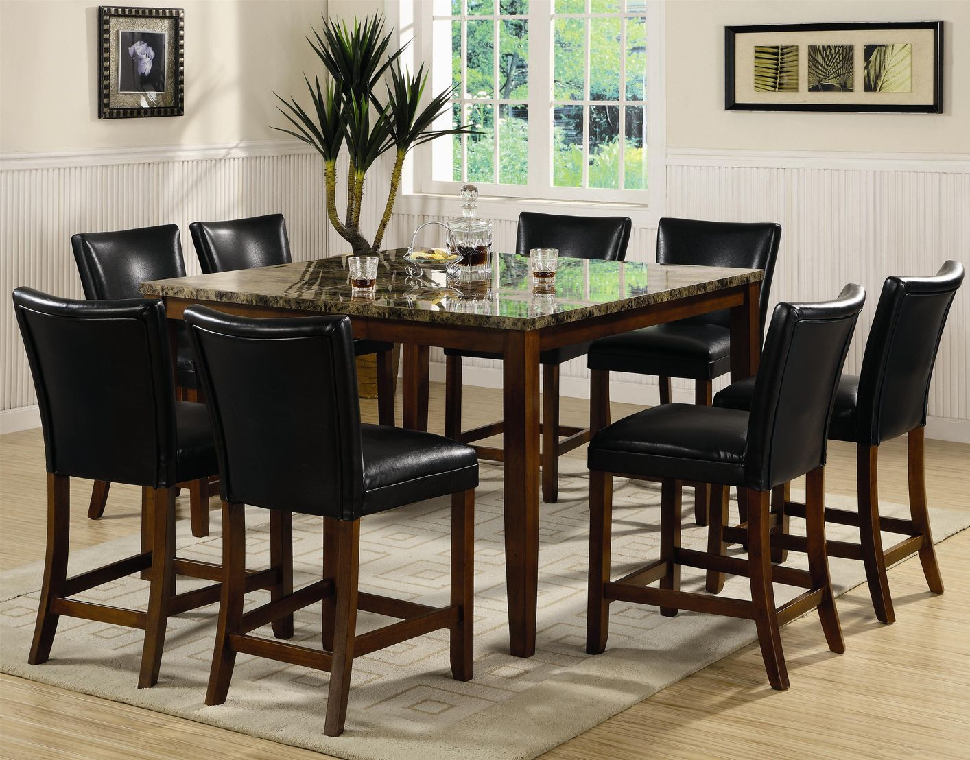 telegraph cherry wood and marble pub table set steal a sofa