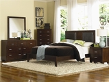 Tiffany Cherry Wood Eastern King Bed Set