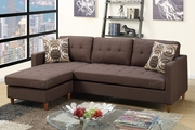 Toiba Brown Fabric Sectional Sofa