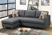 Toiba Grey Fabric Sectional Sofa