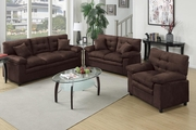 Triton Brown Leather Sofa Loveseat and Chair Set
