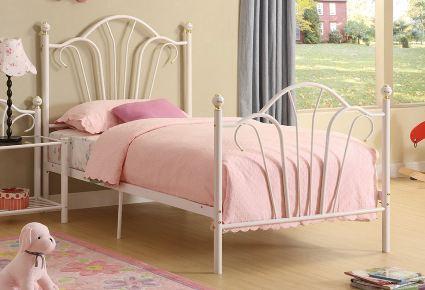 White Metal Twin Size Bed