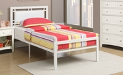 White Leather Twin Size Bed