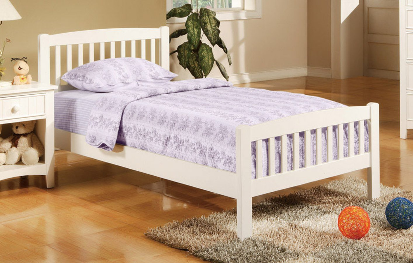 White Wood Bed ~ White wood twin size bed steal a sofa furniture outlet