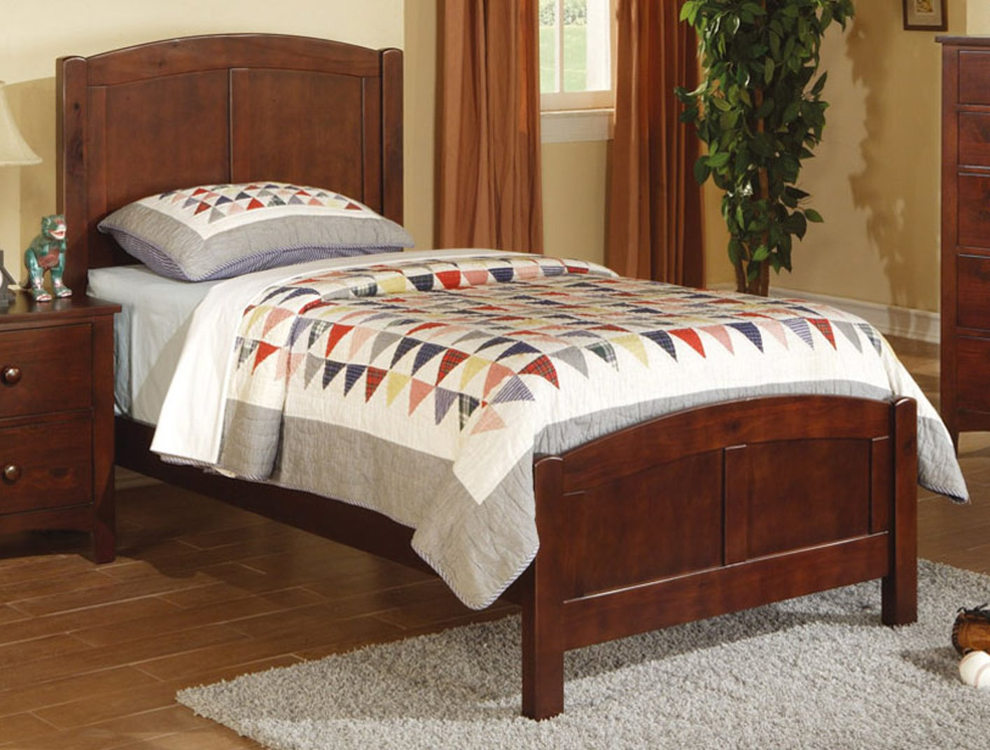 brown wood twin size bed stealasofa furniture outlet