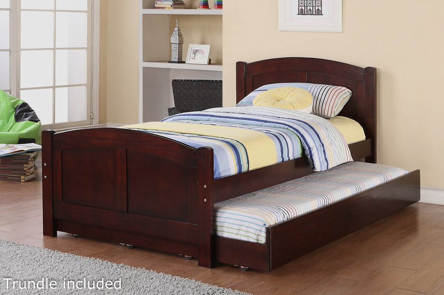 brown wood twin size bed steal a sofa furniture outlet los angeles ca. Black Bedroom Furniture Sets. Home Design Ideas